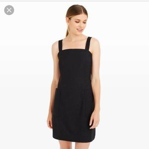 Club Monaco black square neck cotton dress 8